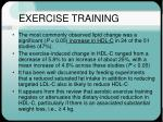 exercise training25