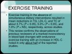 exercise training26