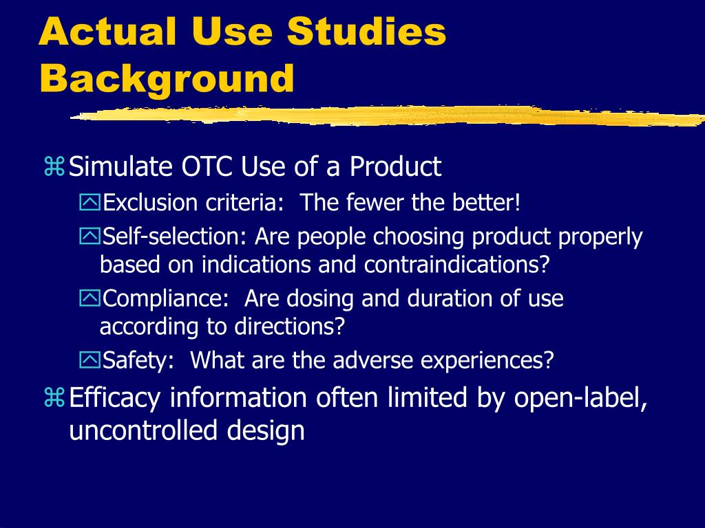 Actual Use Studies