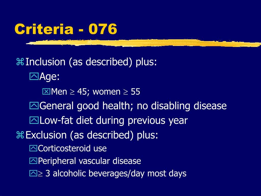 Criteria - 076