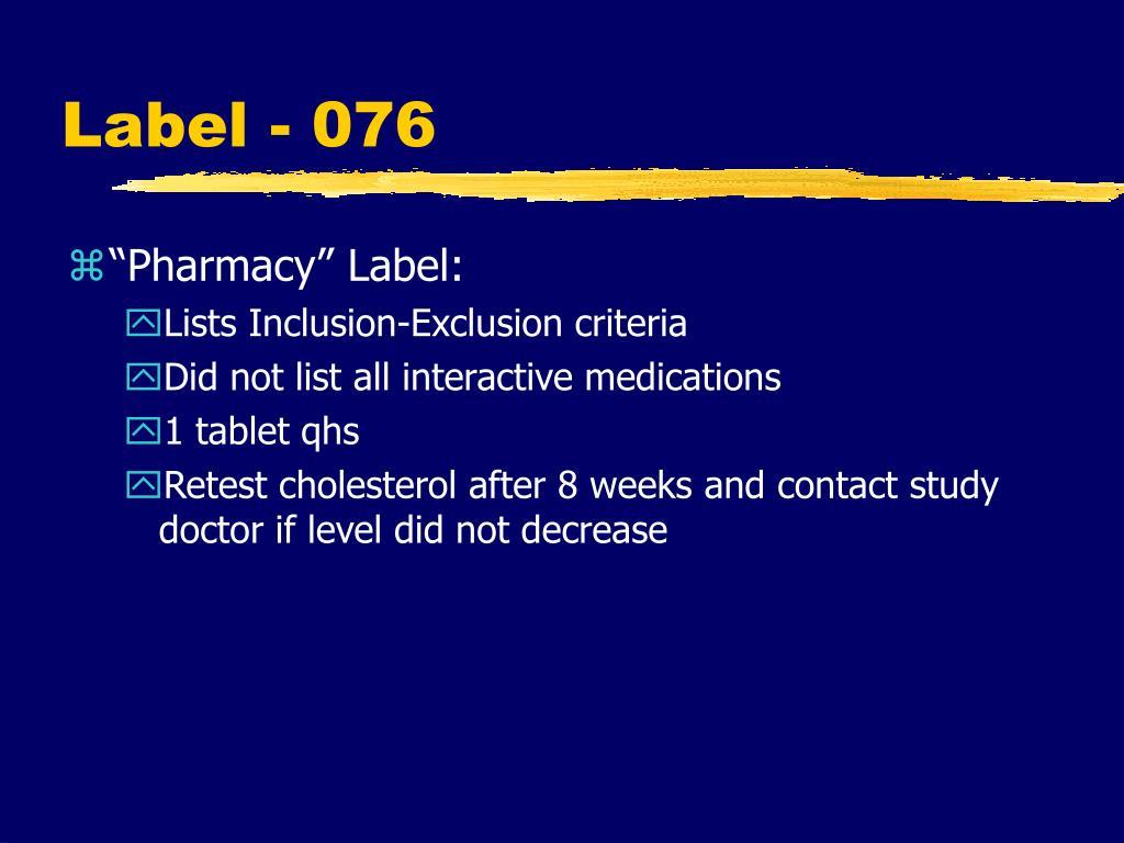 Label - 076