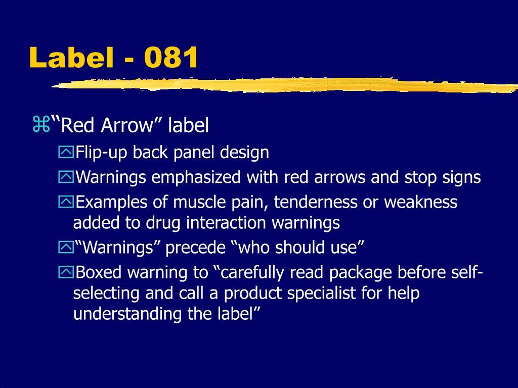 Label - 081
