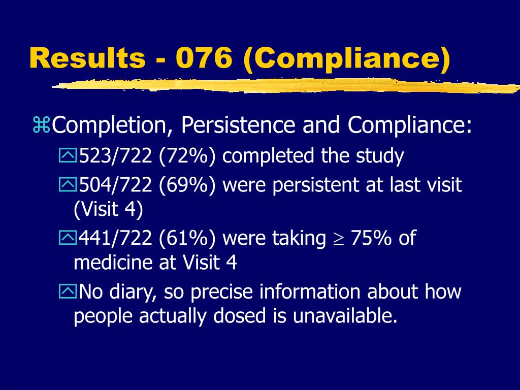Results - 076 (Compliance)