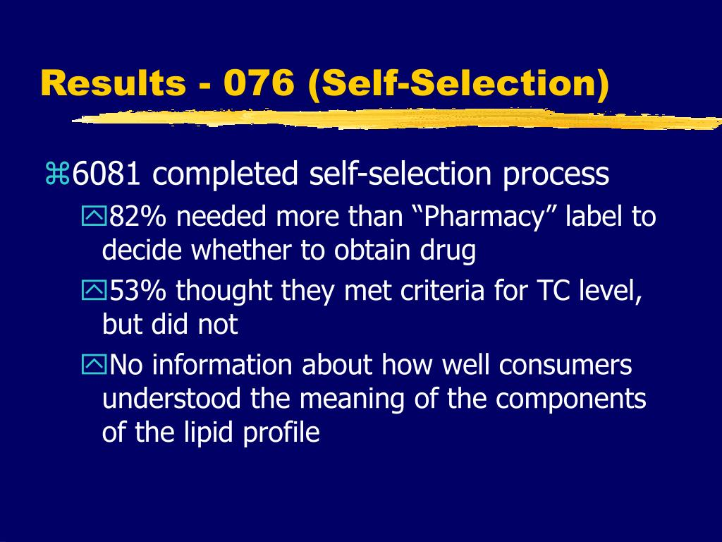 Results - 076 (Self-Selection)