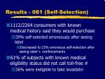 results 081 self selection