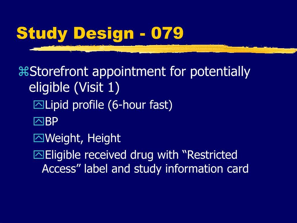 Study Design - 079