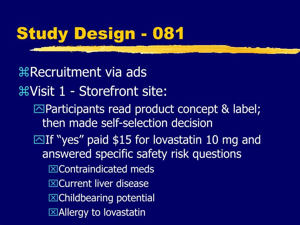 Study Design - 081