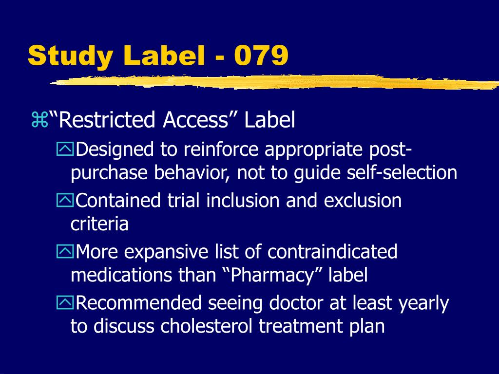 Study Label - 079