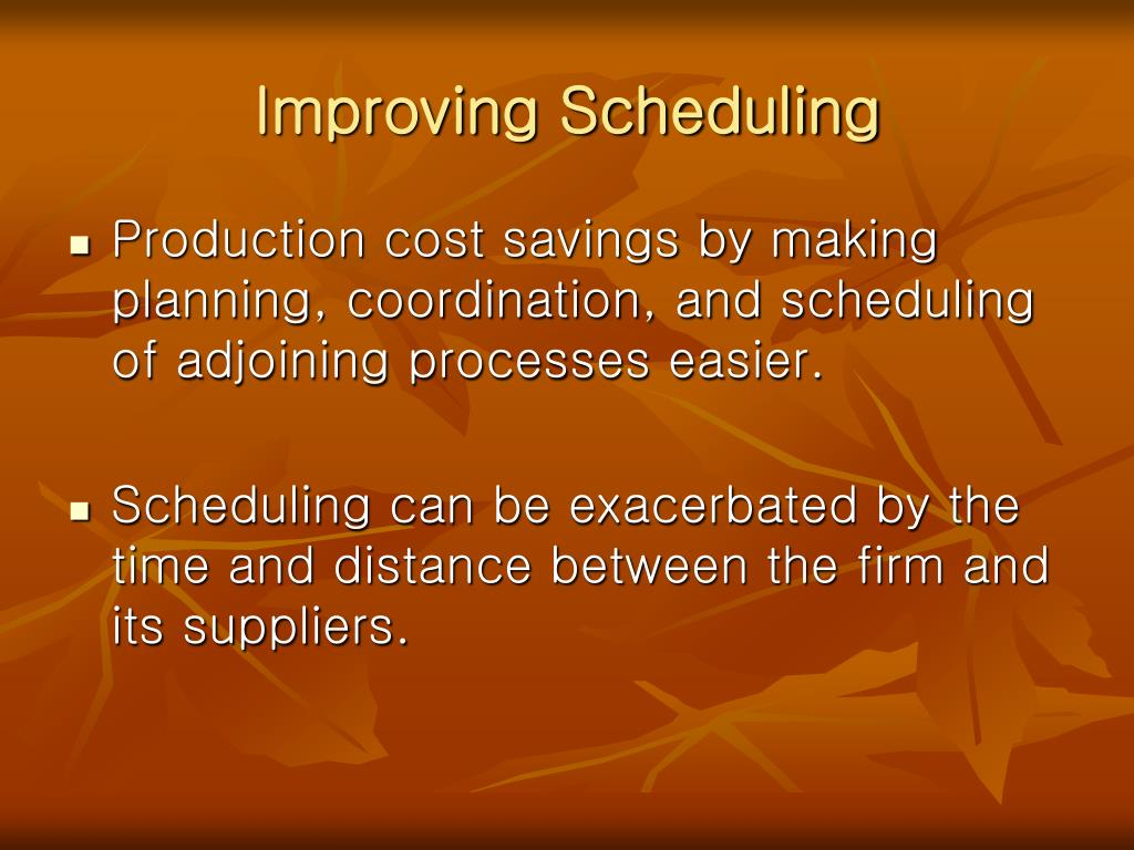 Improving Scheduling
