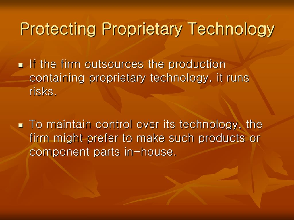 Protecting Proprietary Technology
