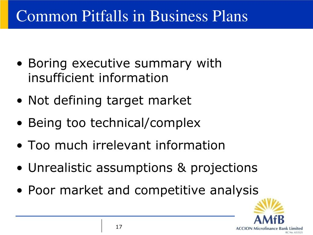 Common Pitfalls in Business Plans