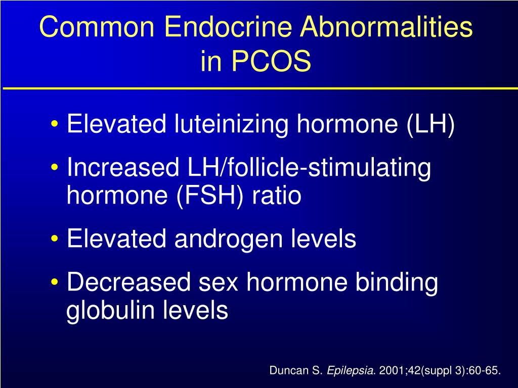 Common Endocrine Abnormalities in PCOS