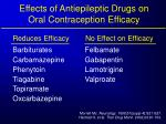 effects of antiepileptic drugs on oral contraception efficacy