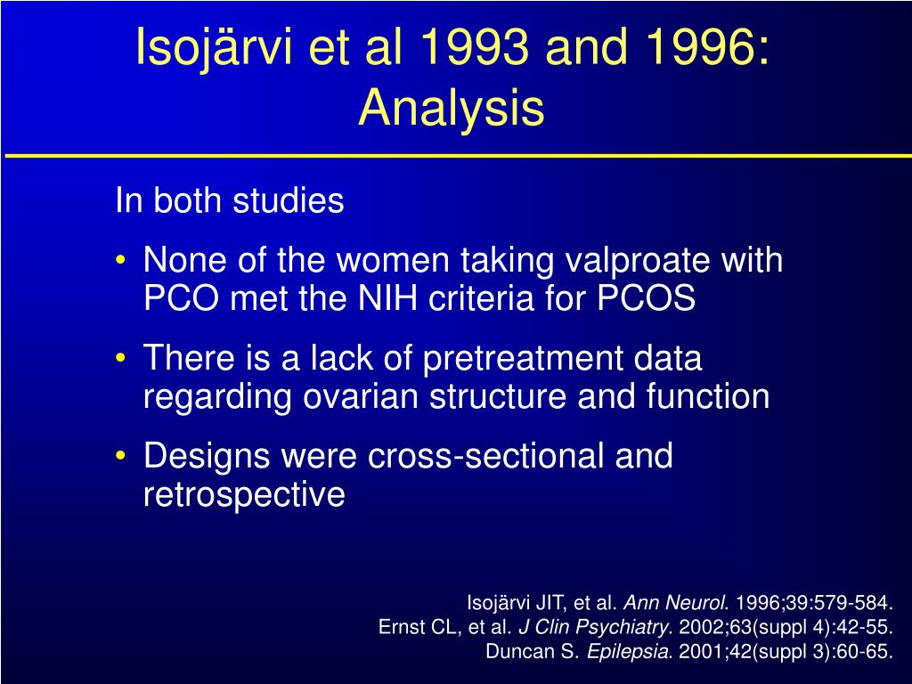 Isojärvi et al 1993 and 1996: Analysis