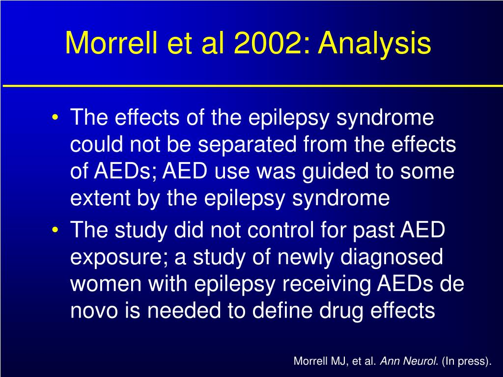 Morrell et al 2002: Analysis