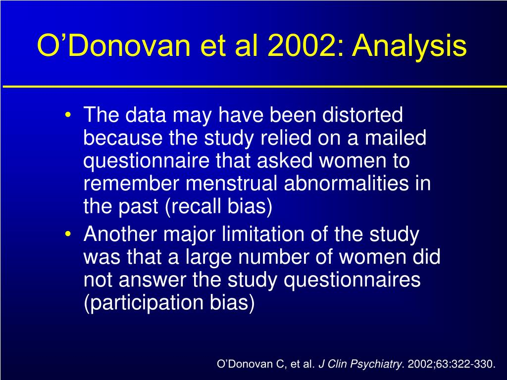 O'Donovan et al 2002: Analysis