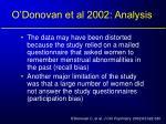 o donovan et al 2002 analysis