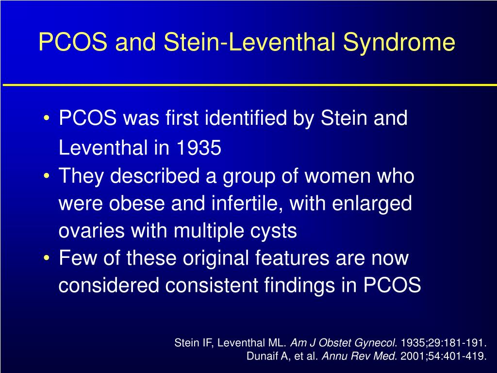 PCOS and Stein-Leventhal Syndrome
