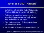 taylor et al 2001 analysis