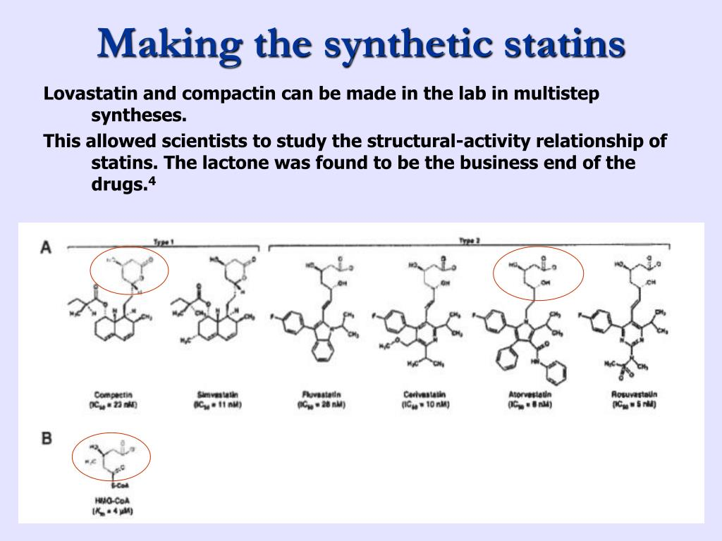 Making the synthetic statins
