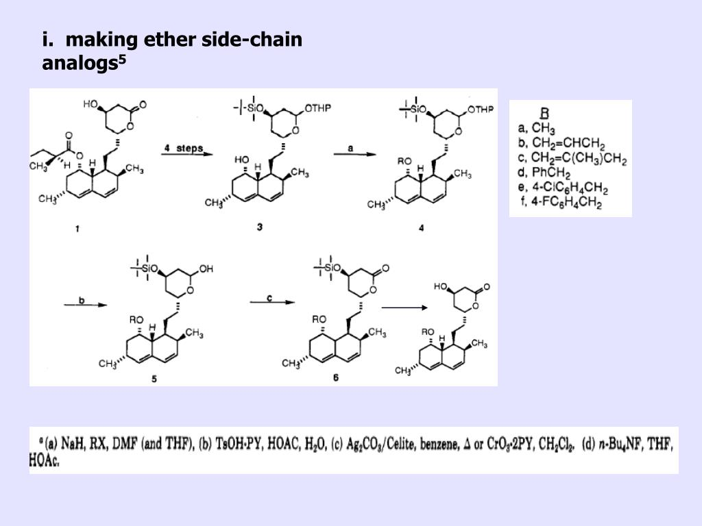 i.  making ether side-chain analogs
