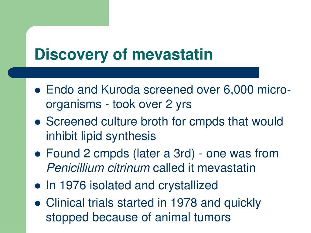 Discovery of mevastatin
