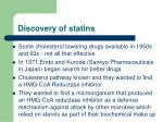 discovery of statins