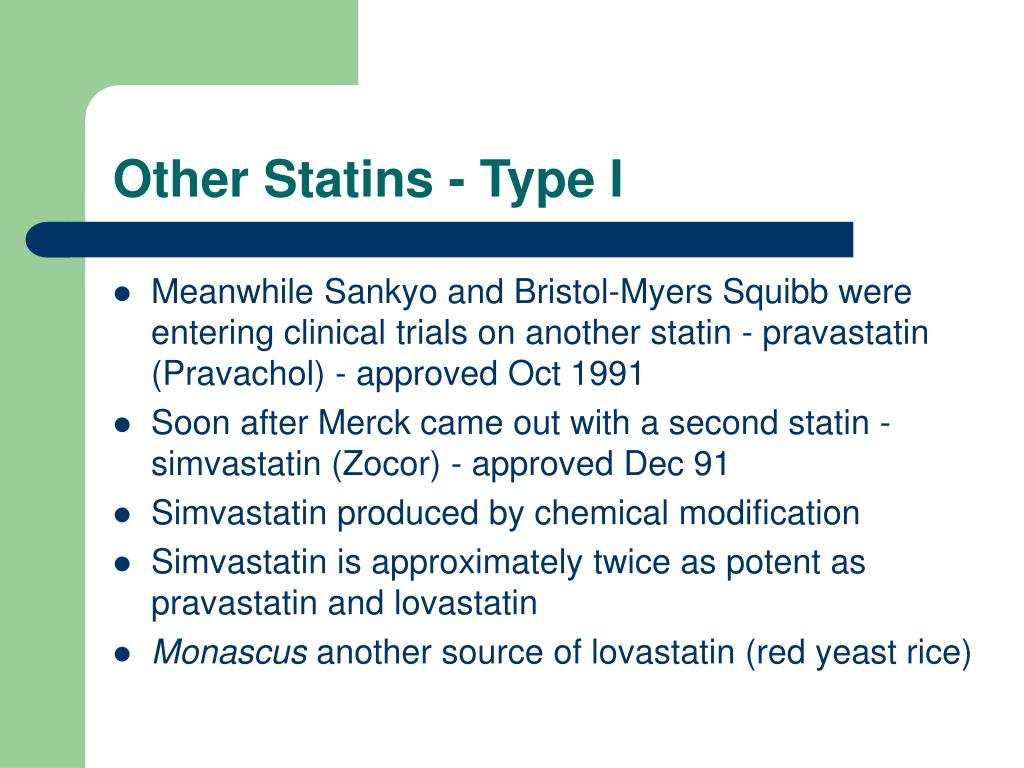 Other Statins - Type I