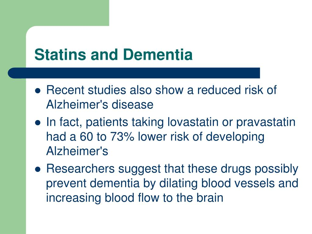 Statins and Dementia