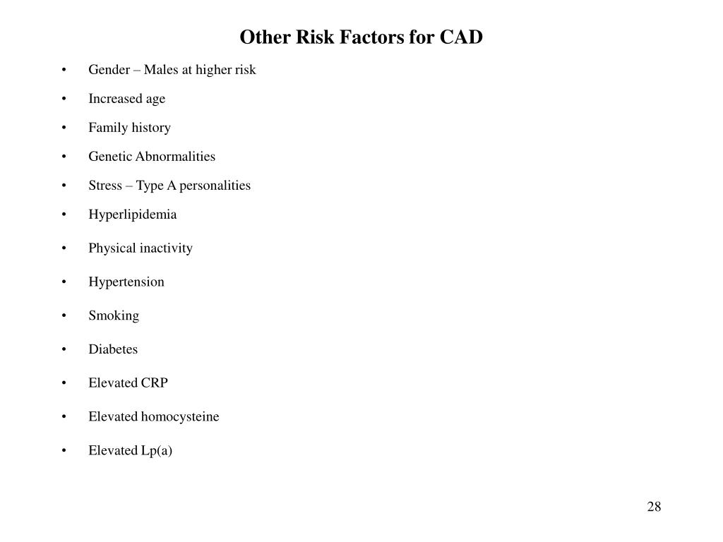 Other Risk Factors for CAD
