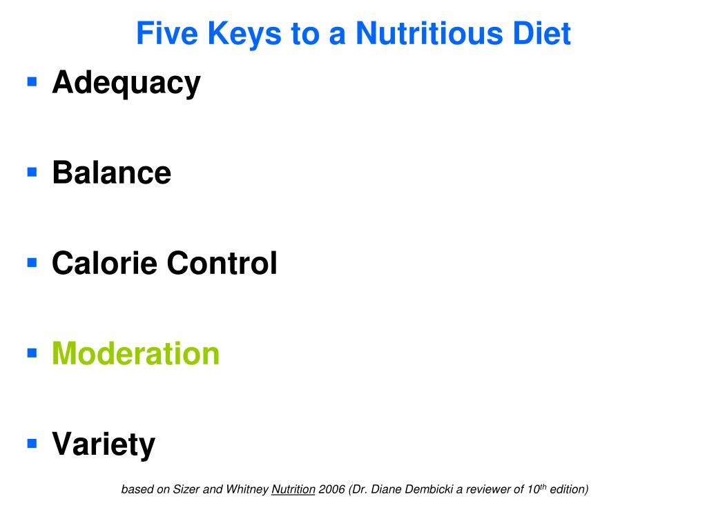 Five Keys to a Nutritious Diet