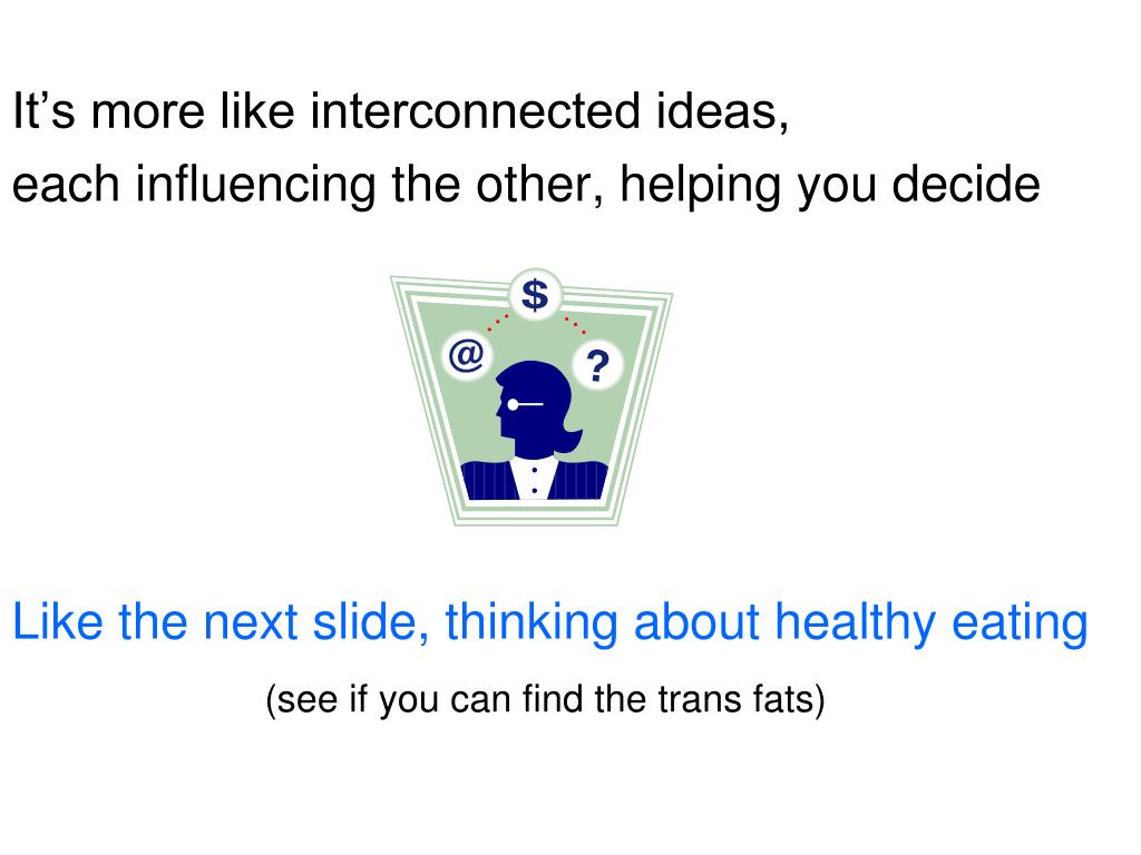 It's more like interconnected ideas,
