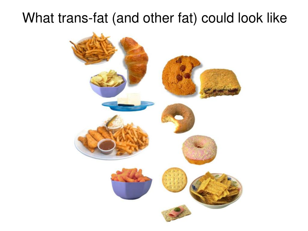 What trans-fat (and other fat) could look like