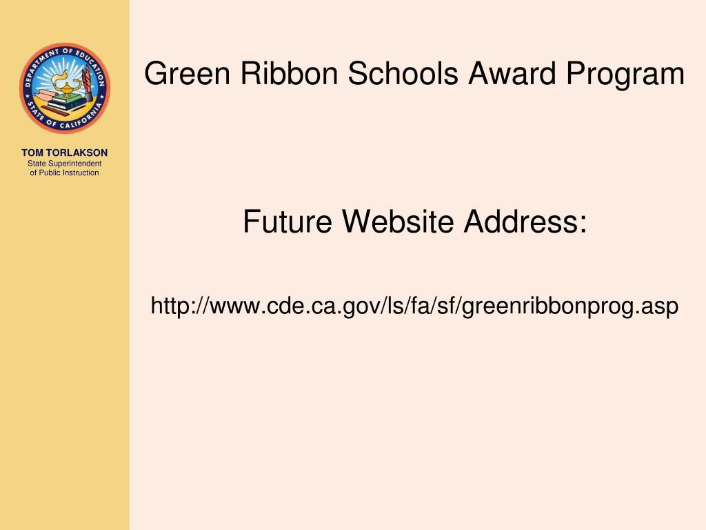Green Ribbon Schools Award Program