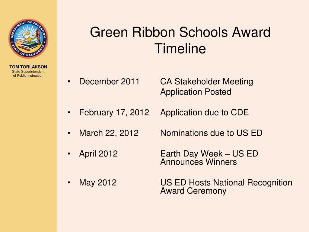 Green Ribbon Schools Award