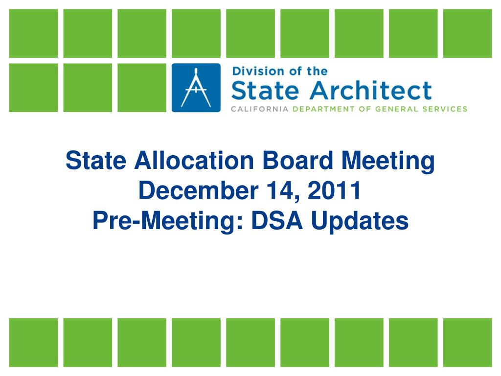 State Allocation Board Meeting