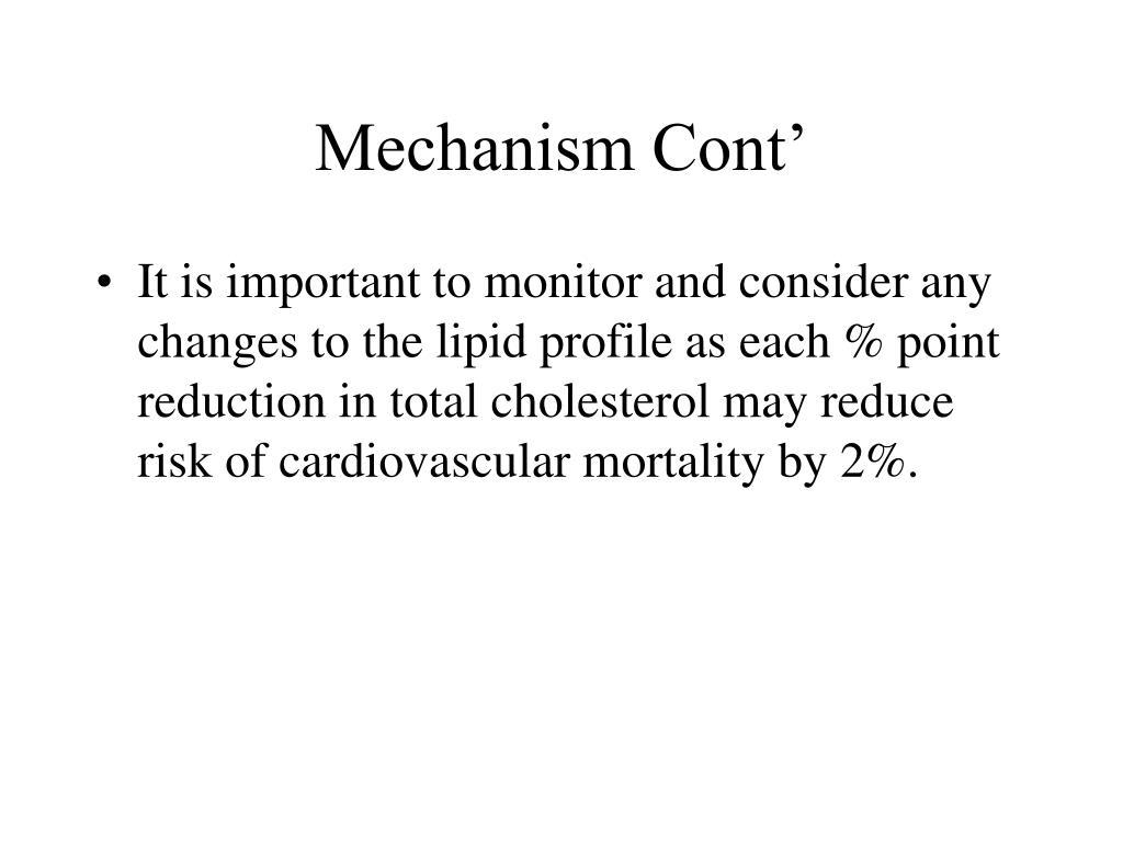 Mechanism Cont'