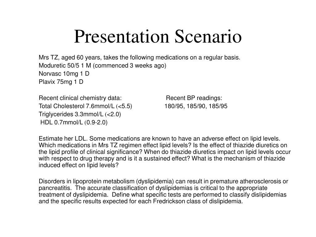 Presentation Scenario