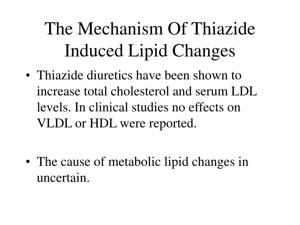 The Mechanism Of Thiazide Induced Lipid Changes