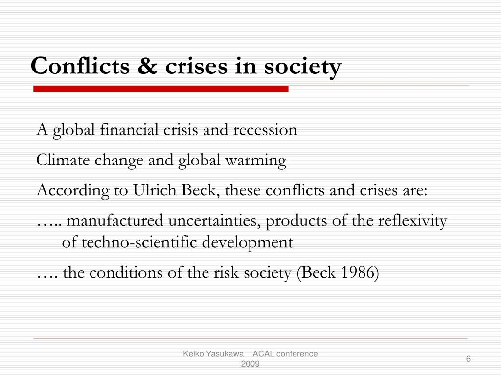 Conflicts & crises in society