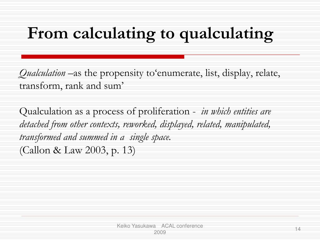Qualculation