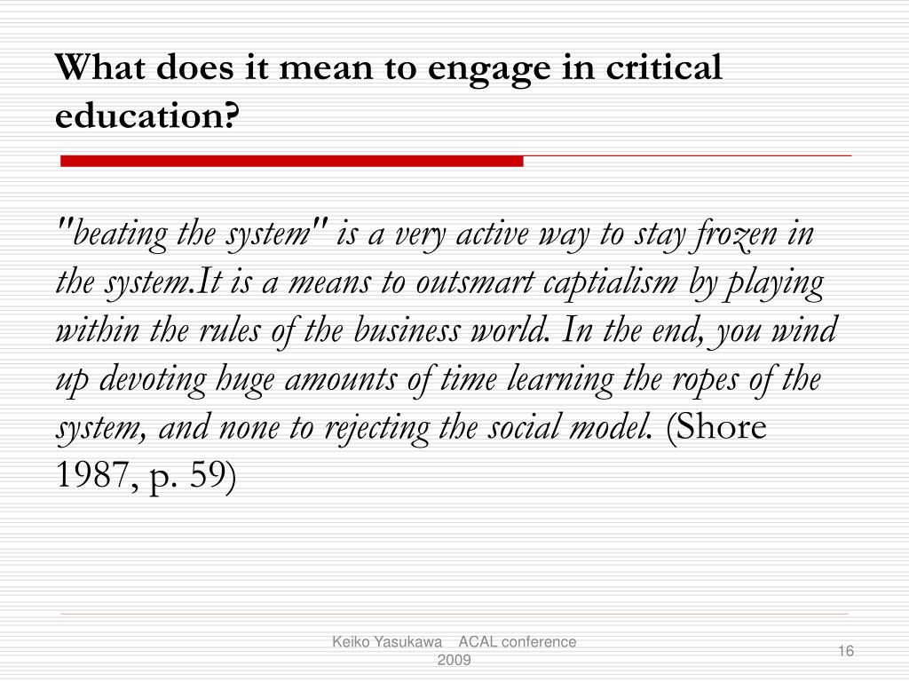 """beating the system"" is a very active way to stay frozen in the system.It is a means to outsmart captialism by playing within the rules of the business world. In the end, you wind up devoting huge amounts of time learning the ropes of the system, and none to rejecting the social model."