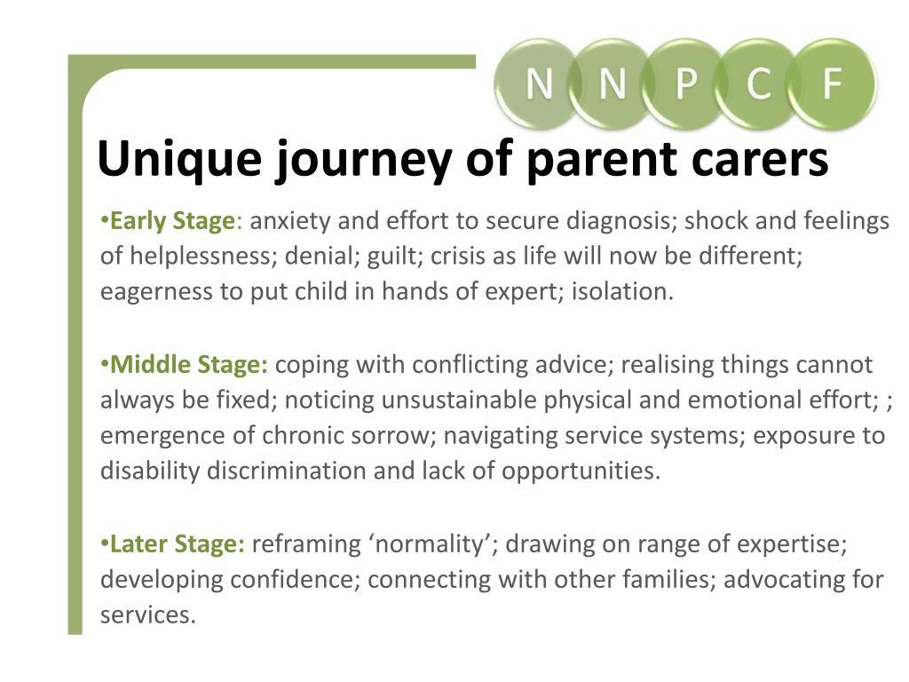 Unique journey of parent carers