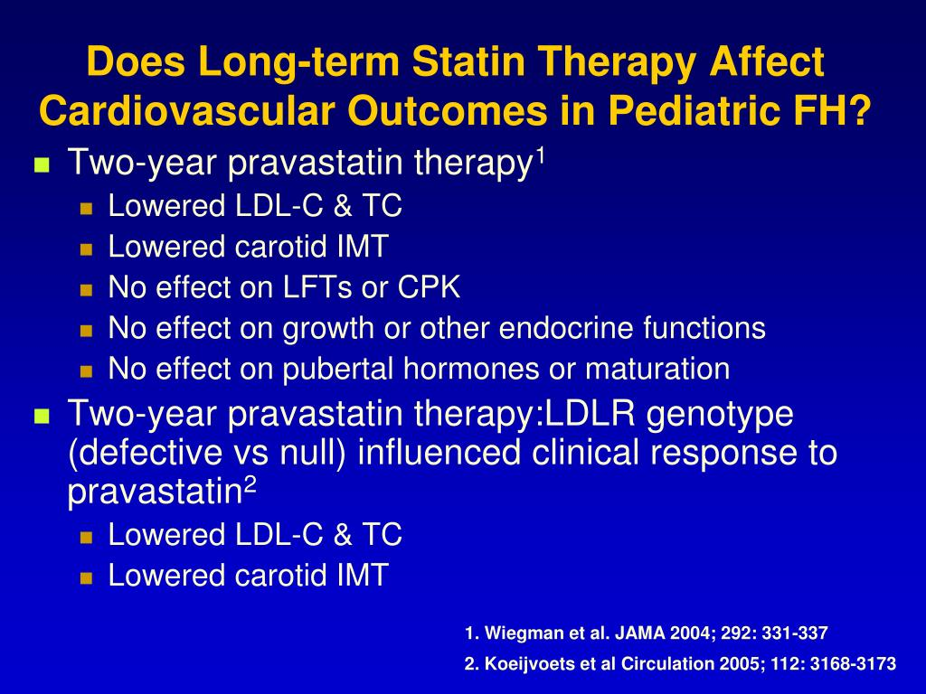 Does Long-term Statin Therapy Affect Cardiovascular Outcomes in Pediatric FH?