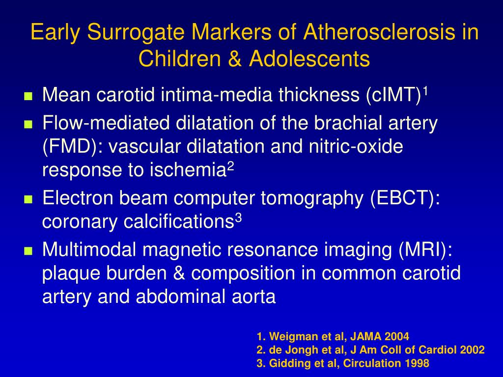 Early Surrogate Markers of Atherosclerosis in Children & Adolescents