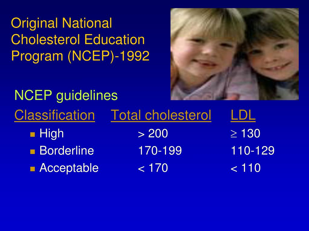 Original National Cholesterol Education Program (NCEP)-1992