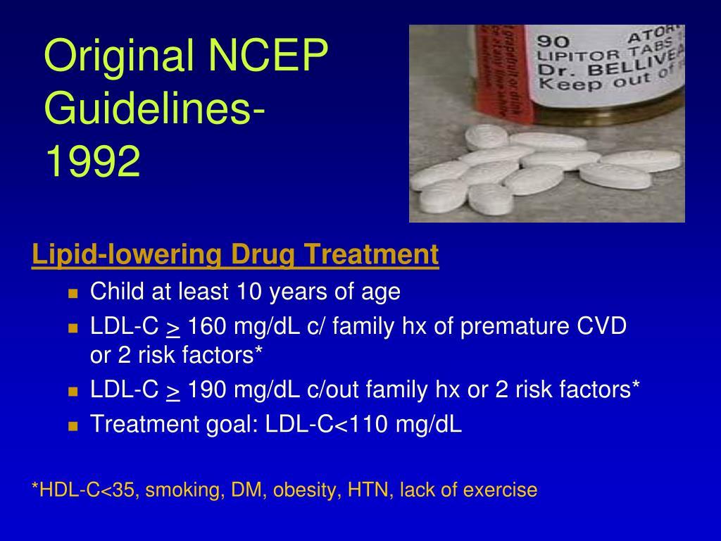 Original NCEP Guidelines-1992