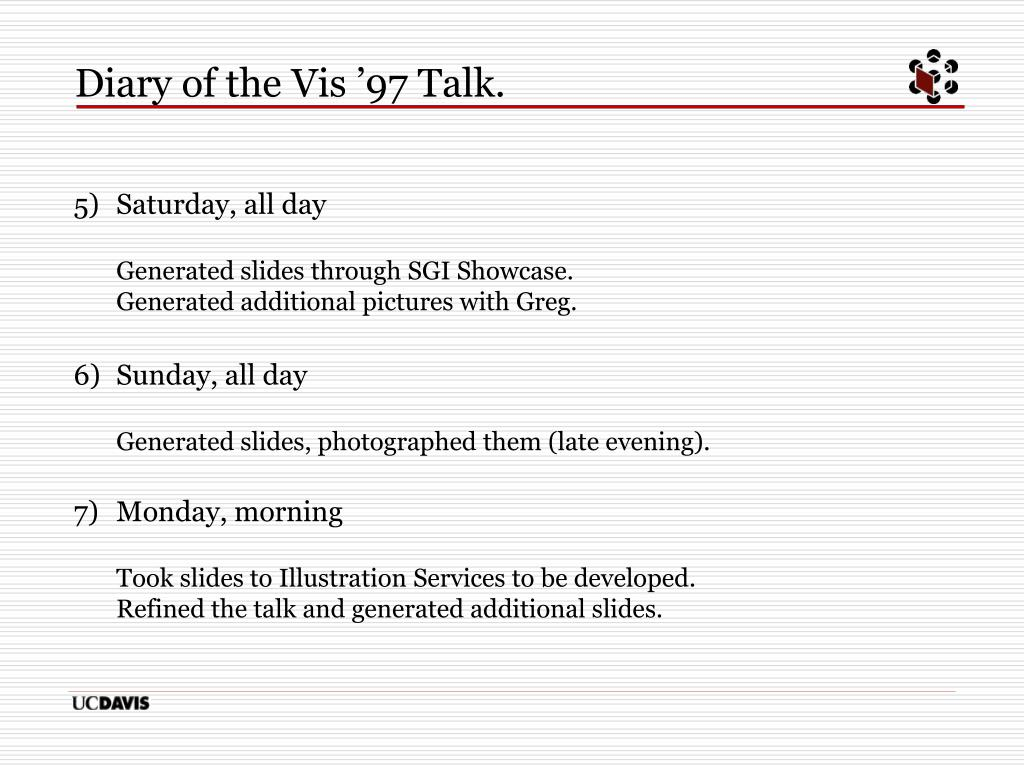 Diary of the Vis '97 Talk.