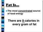 fat is