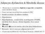 adipocyte dysfunction metabolic disease4
